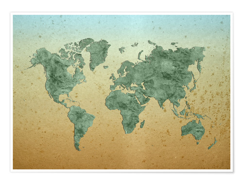 Premium poster Vintage World Map