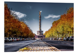 Foam board print  Victory Column Berlin during Fall - Sören Bartosch