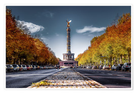 Premium poster Victory Column Berlin during Fall