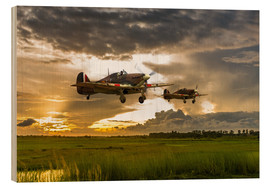 Wood  Hurricanes Come Home - airpowerart