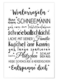 Poster Winter rules