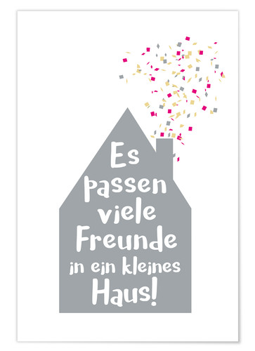 Premium poster Small house (German)