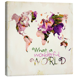 Canvas print  What a wonderful world (Map) - Mandy Reinmuth