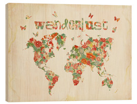 Wood print  Wanderlust - Mandy Reinmuth