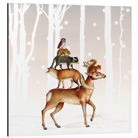 Aluminium print  Forest animals - MiaMia