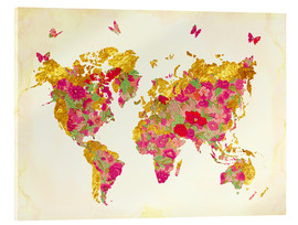 Acrylic print  Summer World Map - Mandy Reinmuth