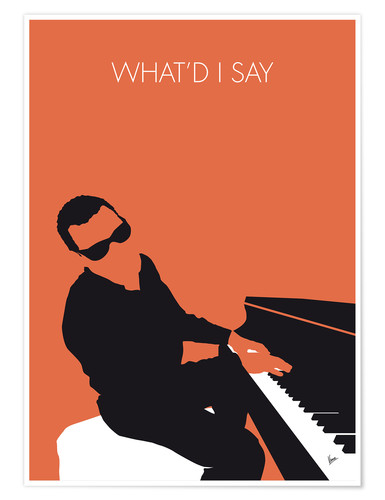 Premium poster Ray Charles, What'd I say
