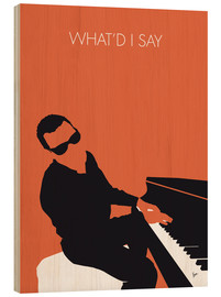 Wood print  Ray Charles, What'd I say - chungkong