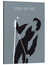 Aluminium print  Jim Morrison - Light My Fire - chungkong