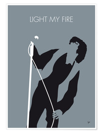Premium poster Jim Morrison - Light My Fire