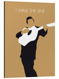 Aluminium print  Johnny Cash, I walk the line - chungkong