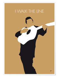 Premium poster Johnny Cash, I walk the line