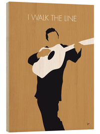Wood print  Johnny Cash, I walk the line - chungkong