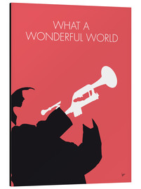 Aluminium print  Louis Armstrong - What A Wonderful World - chungkong