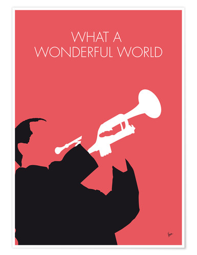 Premium poster Louis Armstrong - What A Wonderful World