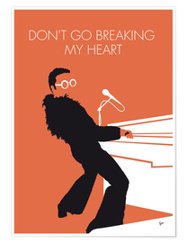 Premium poster Elton John - Don't Go Breaking My Heart