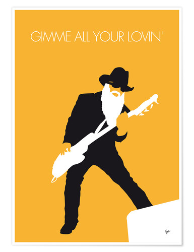 Premium poster No044 MY ZZ TOP Minimal Music poster