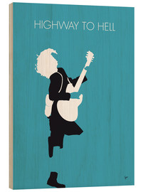 Wood print  ACDC, Highway to hell - chungkong