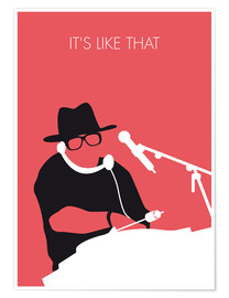 Poster  No022 MY RUN DMC Minimal Music poster - chungkong