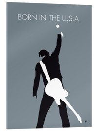 Acrylic glass  No017 MY Bruce Springsteen Minimal Music poster - chungkong