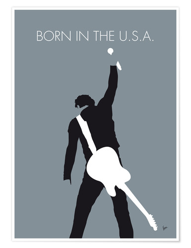 Premium poster Bruce Springsteen, born in the U.S.A.