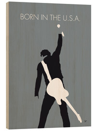 Wood print  Bruce Springsteen, born in the U.S.A. - chungkong
