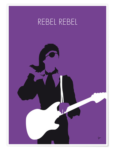 Poster No031 MY BOWIE Minimal Music poster