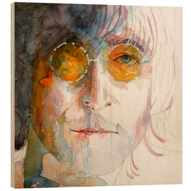 Wood print  John Winston Lennon - Paul Lovering Arts