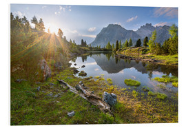 Foam board print  Sunset in the Dolomites - Dave Derbis