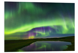 Foam board print  Northern Lights - Dave Derbis