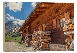 Wood  Mahlknecht hut on the Seiser Alm (South Tyrol) - Christian Müringer