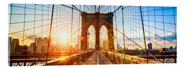 Acrylic glass  Brooklyn Bridge in New York City, USA - Jan Christopher Becke