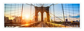 Premium poster  Brooklyn Bridge in New York City, USA - Jan Christopher Becke