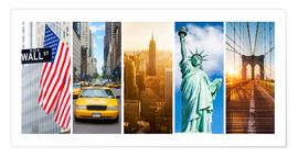 Premium poster  New York City Panorama Photo Collage - Jan Christopher Becke