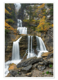 Premium poster Waterfall near Garmisch-Partenkirchen in Bavaria, Southern Germany