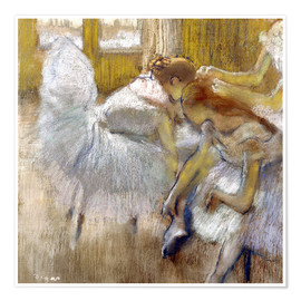 Premium poster  Dancers is resting - Edgar Degas