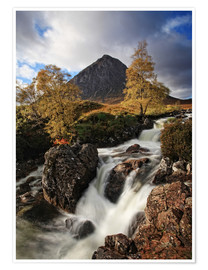 Premium poster Scotland in Autumn - Buchaille Etive Mor