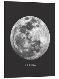 Aluminium print  La Luna - the moon - Finlay and Noa