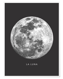 Premium poster La Luna - the moon