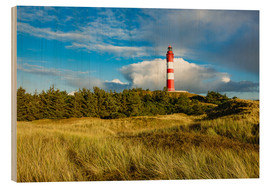 Wood print  Lighthouse on the North Sea island Amrum - Rico Ködder