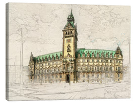 Canvas print  Hamburg, Rathaus - Peter Roder
