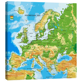 Canvas  Europe - Physical Map