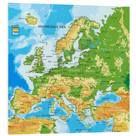 Forex  Europe - Physical Map