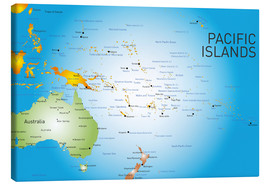 Canvas print  Map of Pacific Islands
