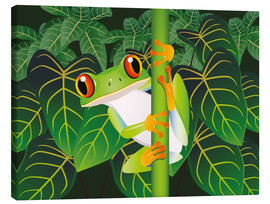Canvas  Hold on tight little frog! - Kidz Collection