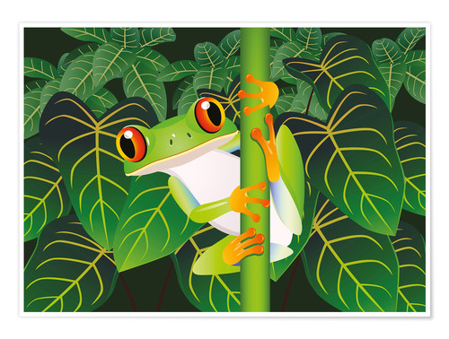 Premium poster Hold on tight little frog!