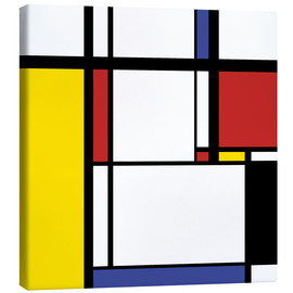 Canvas print  Mondrian style square illustration