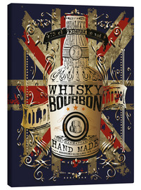 Canvas print  bottle of whiskey