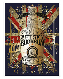Poster  bottle of whiskey