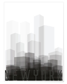 Premium poster New york City silhouette